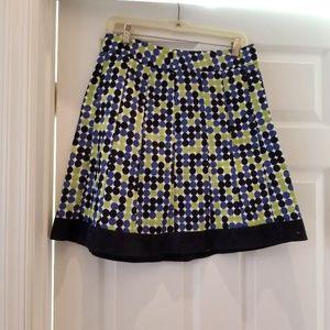 Green and Navy Polka Dot Skirt - ann Taylor - NWT